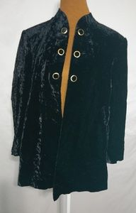 ↓$42 Fruc Huong Special Crushed Velvet Jacket Sz M